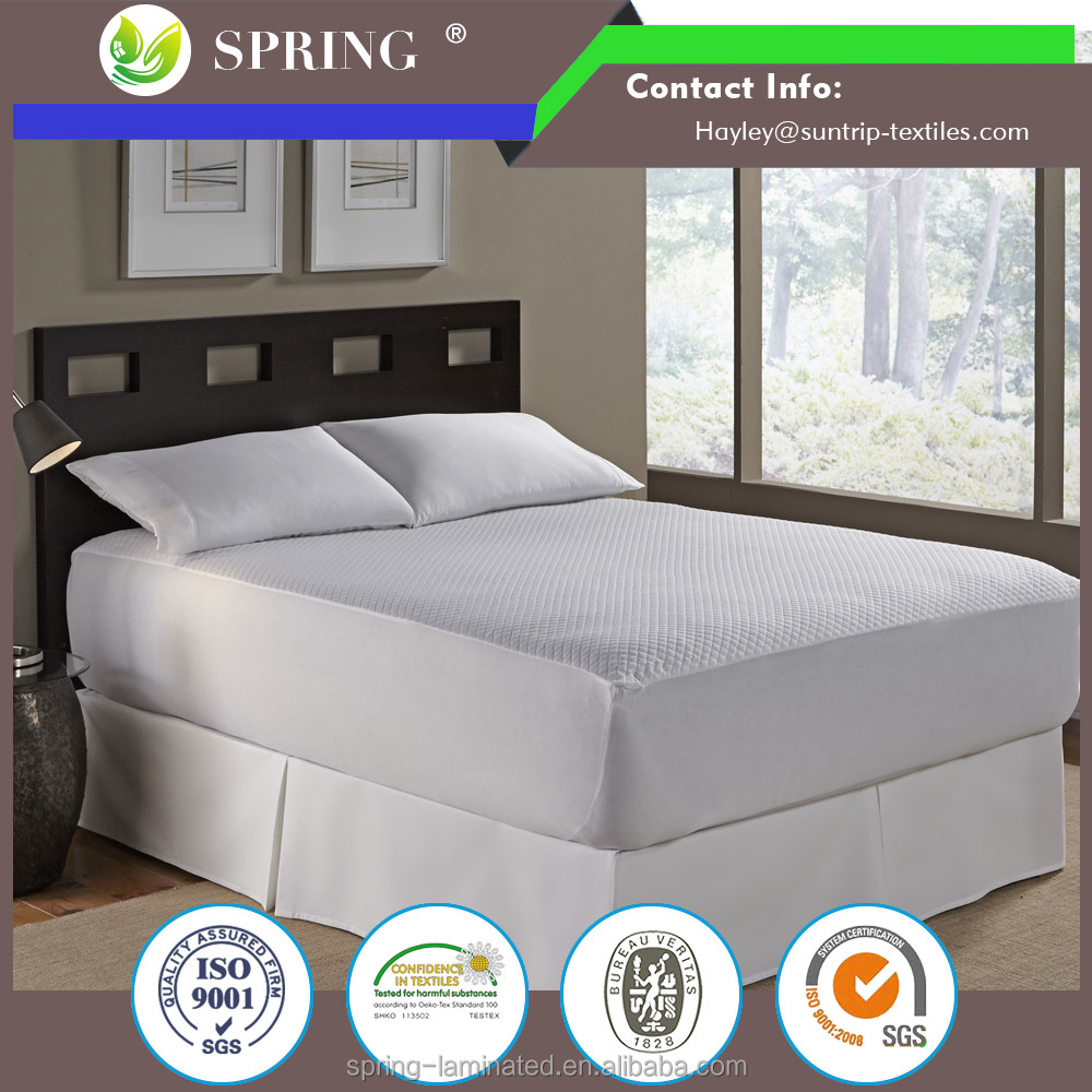 Polyester 4 foot waterproof cooling touch mattress protector waterproof