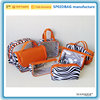 fashion new styles microfiber pvc cosmetic bag cute zebra stripe hanging toiletry bag