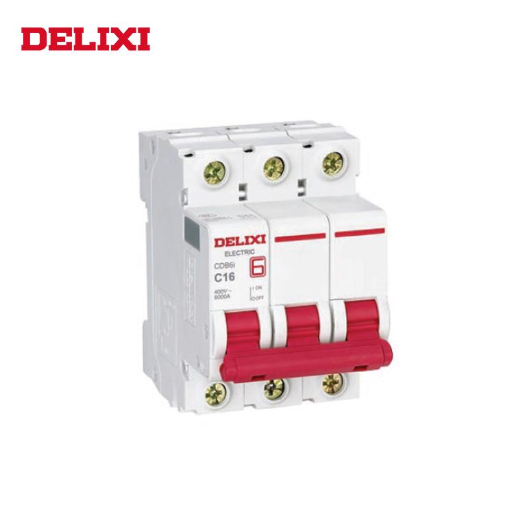 DELIXI Short Circuit Protection Rational Construction Miniature Circuit Breaker