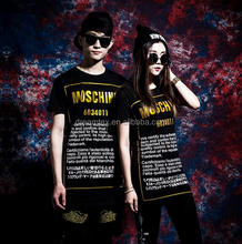 Digital sublimation printing family couple t-shirt