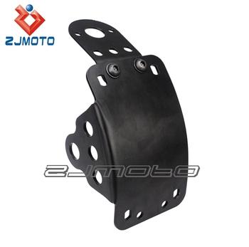 Zjmoto Side Mount License Plate Tail Light Bracket With 3 4 Hole
