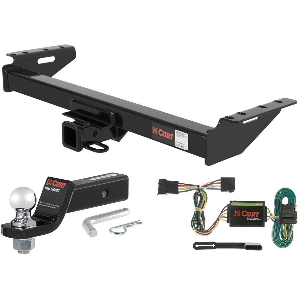 "CURT Class 3 Trailer Hitch Tow Package with 2"" Ball for 1991-1996 Jeep Cherokee"