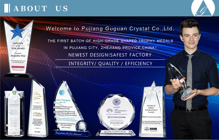 Pujiang new design creative activities competition to commemorate gift prizes water drop charity award custom crystal trophy