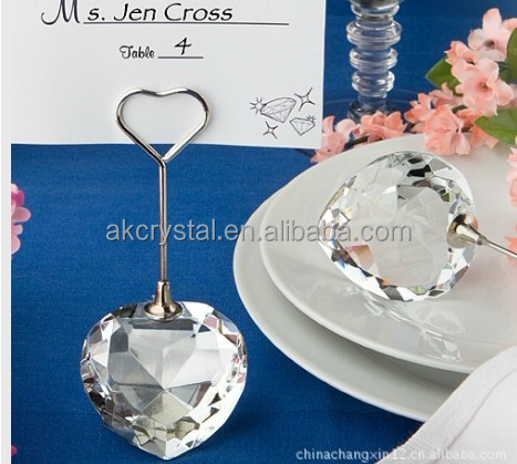 Best sales cheap crystal name card holder wedding table gifts for guests