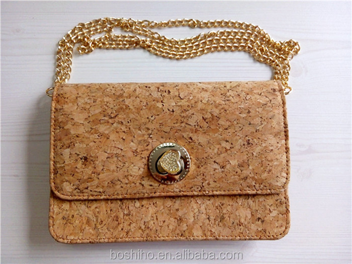 New Arrival Natural Antibacterial Fashion Portugal Cork Handbag