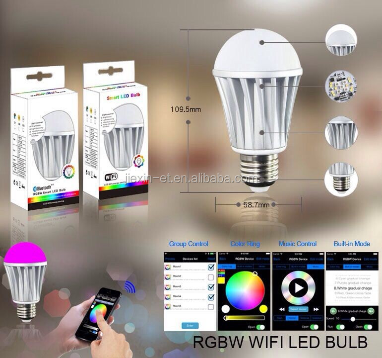 Androd Ios System Smart Rgb Led Bulb Light Bluetooth Remote ...