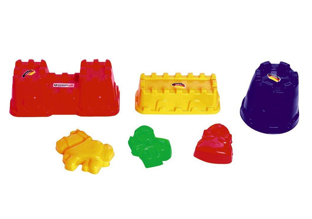 Spielstabil Castle Set in Net 6 Piece Sand Mold Set (Made in Germany)