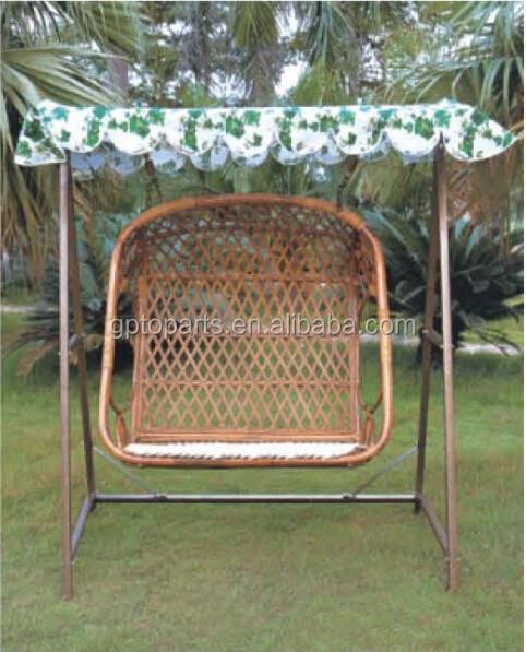Hollywoodschaukel h ngen pod stuhl mit sonnenschutz bambus for Bambus schaukelstuhl