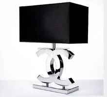 Fashionable luxury CC table lamp with fabric shade