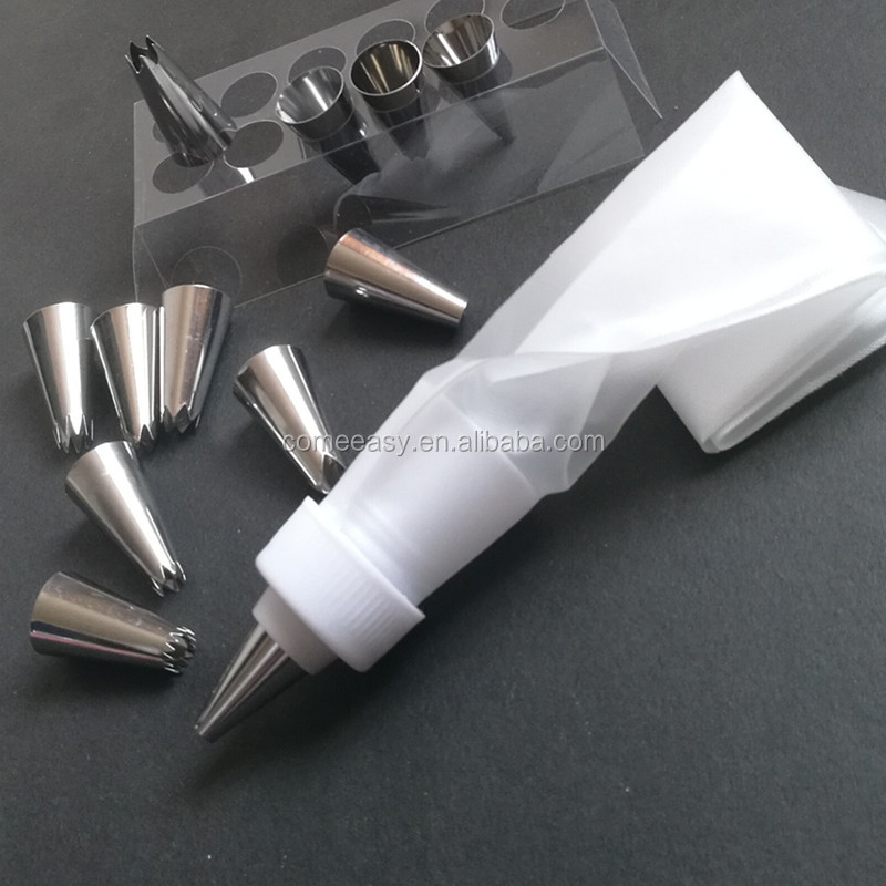 Piping Cream Stainless Steel Cake Decorating Tools Pastry Bag Converter Nozzle