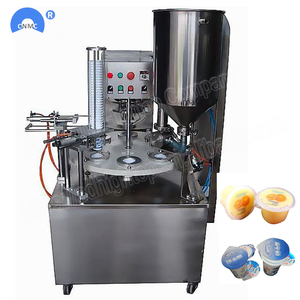 KIS-900 Jelly Yogurt Ice Cream Rotary Cup Filling Sealing Machine Automatic
