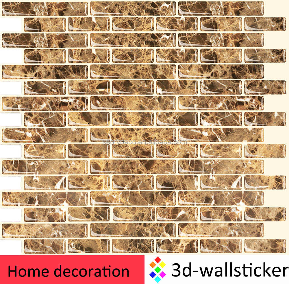 China factory wholesale epoxy sticker style tiles and marbles mosaic for home interior decor