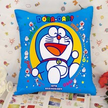 Custom made printed Doraemon throw pillow