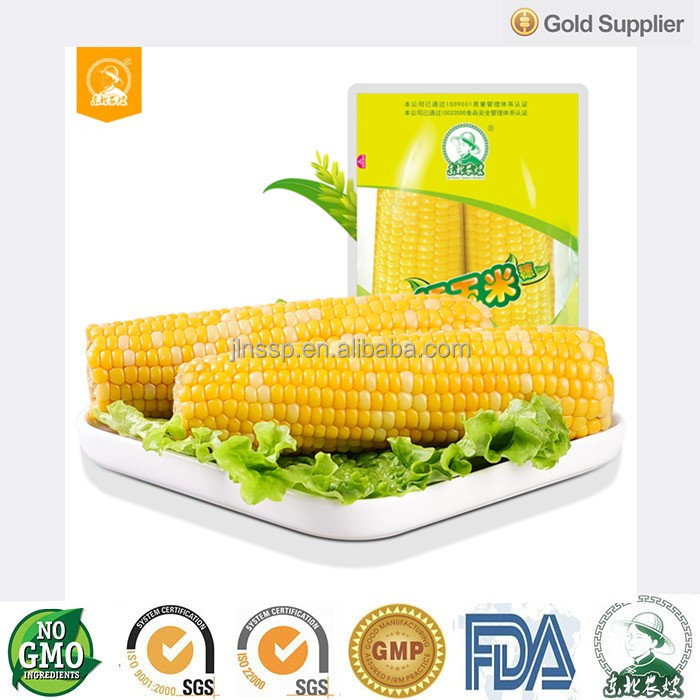 Vacuum Intake Twin Pack Glutinous Fresh <strong>Corn</strong> on Cob Newly Harvested Non GMO Cook and Eat