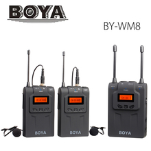 BOYA BY-WM8 wireless UHF Dual Lavalier microphone for use with DSLR cameras, camcorders.