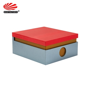 DHP Factory Design Magnetic Closure Velvet Lining Paper Mounted Wooden Gift MDF Tea Box
