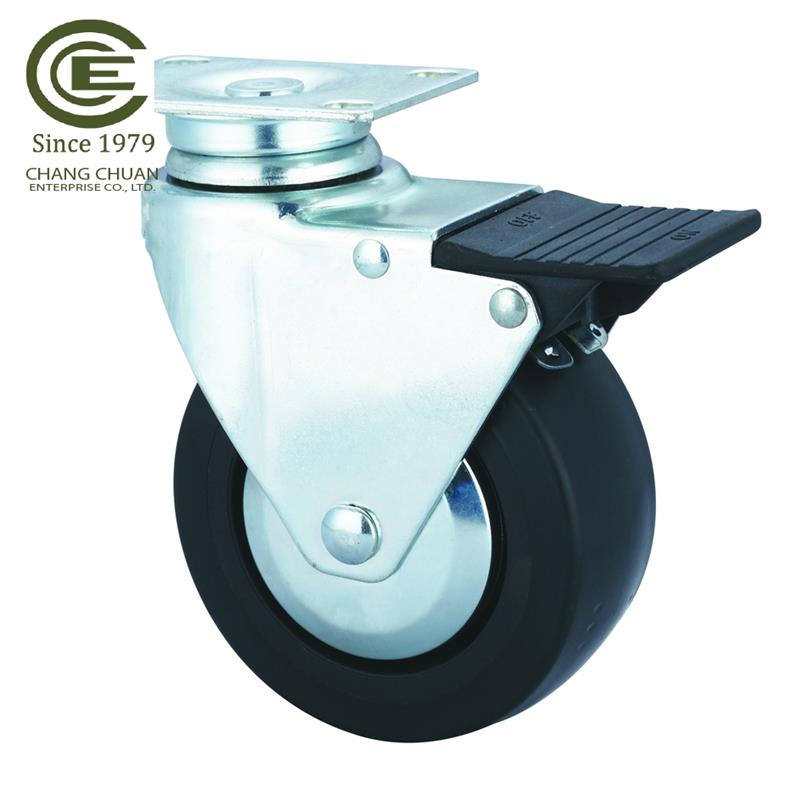 Durable 5 inch castor Swivel plate Casters wheel for Work Tables and Equipment Stands