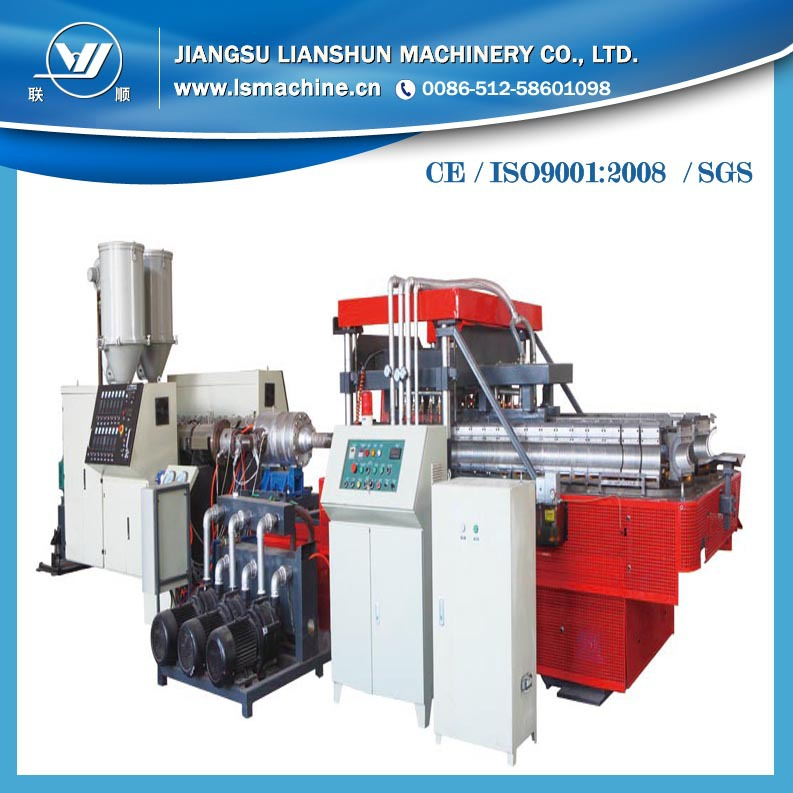 75-200mm PE pipe Application leaky pipe extruding line