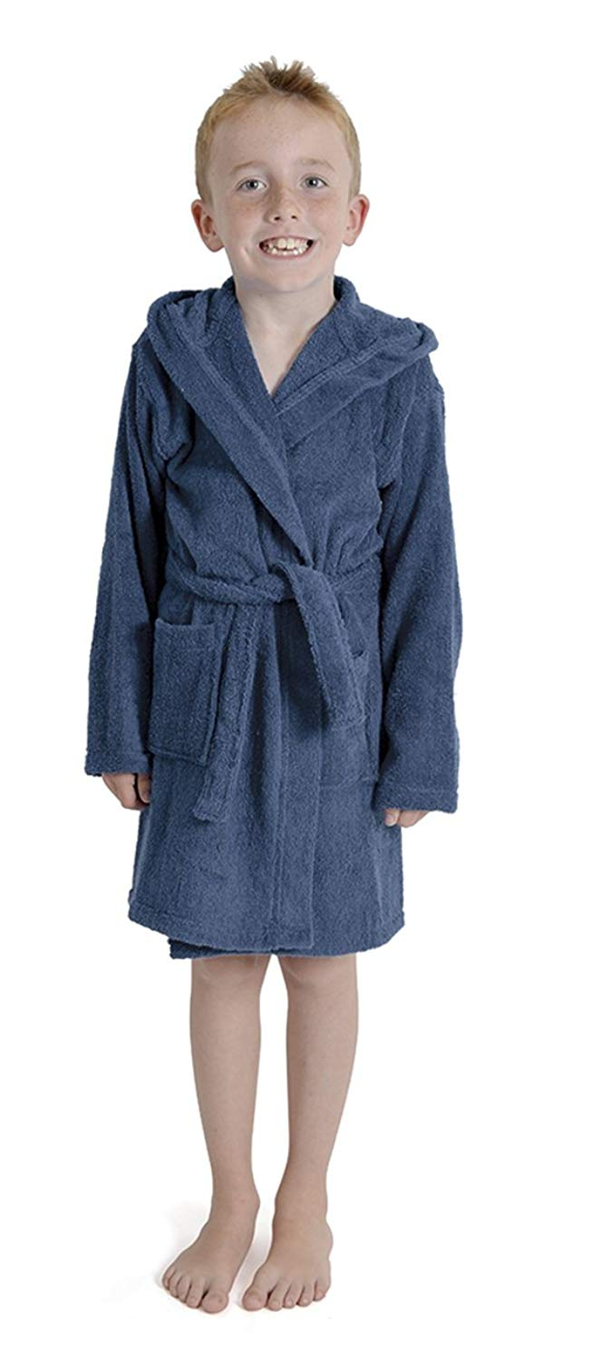 Get Quotations · Aumsaa Boys children Dressing Gown Hooded Towelling  Bathrobe 100% Cotton Terry Towel Bath Robe Soft e84fdf568