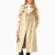 China Good navy blue trench coat cream white