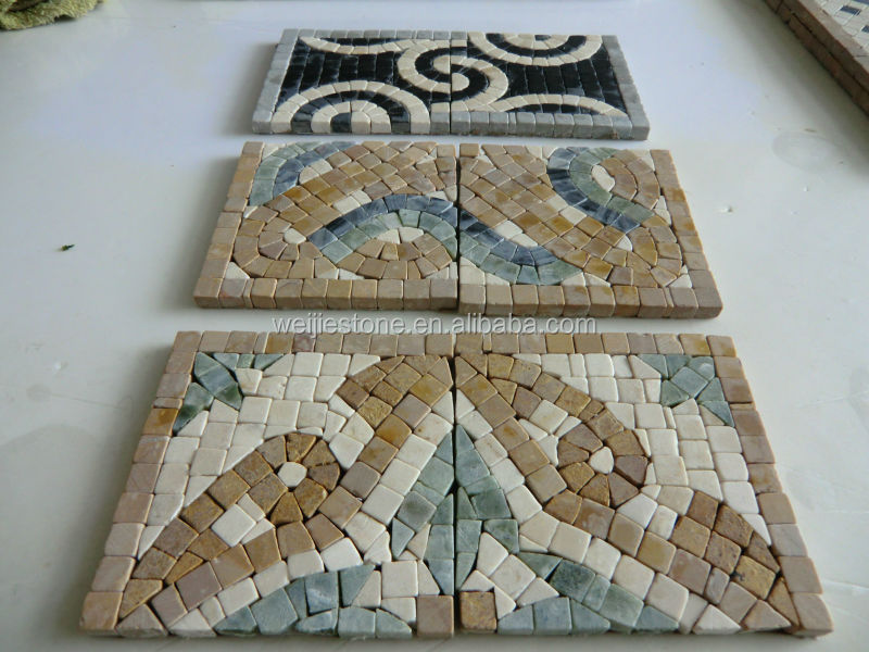 Various color style stone liner / marble mosaic border tile / marble wall border