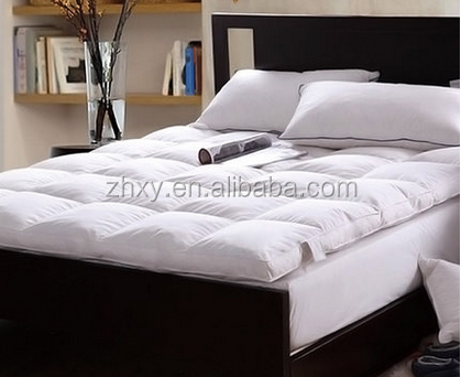 Cheap Five Star Hotel Use Cotton Fabric White Goose Feather Bed Mattress