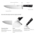 Professional high carbon Knife Set 5cr15 Stainless Steel 8 inch Chef Knife with sharpener Kitchen Knife Set