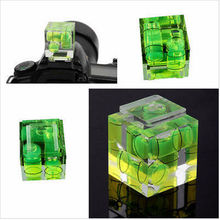 2PS Photo Studio Accessories New Triple 3 Axis Bubble Spirit Level Hot Shoe Adapter For Dslr Slr Cameras S24 J440