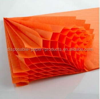 Arts And Crafts Supplies A4 Honeycomb Paper Orange Honeycomb Tissue