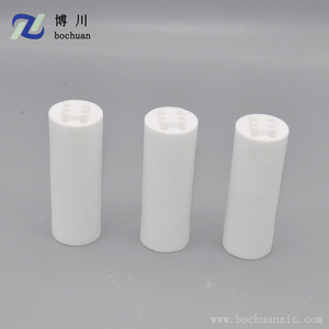 High purity 99 al2o3 alumina ceramic tube with maximum working temperature 1700 C