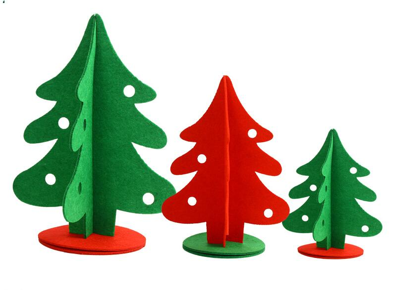 most popular high quality soft felt material wholesale christmas decorations for home