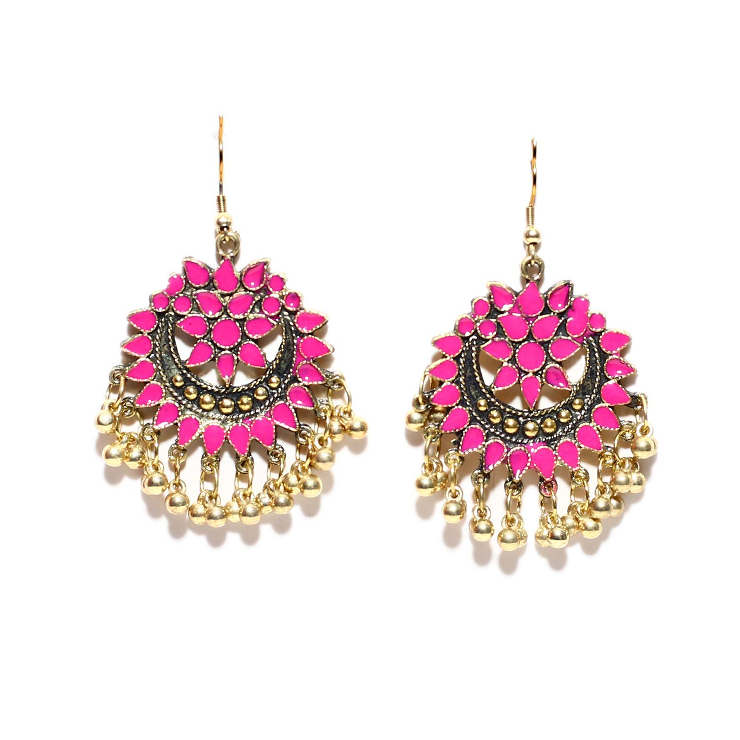 b3148ffd0 Get Quotations · Oxidized Ethnic Gold Earrings Fashion Jewelry Bollywood  Afghani Style Jhumki for Women Girls