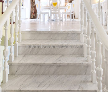 Awesome White Marble Small Space Staircase,marble Stair Tread