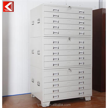 Superior Knock Down Office Steel 5 Drawer Drawing/map Storage Cabinets