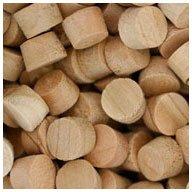 WIDGETCO 3/8 Cherry Wood Plugs, Face Grain