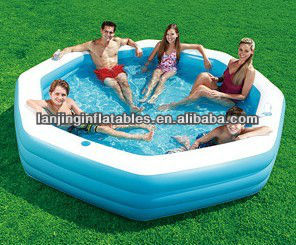 product detail summer escapes  x octagonal inflatable family swimming pool
