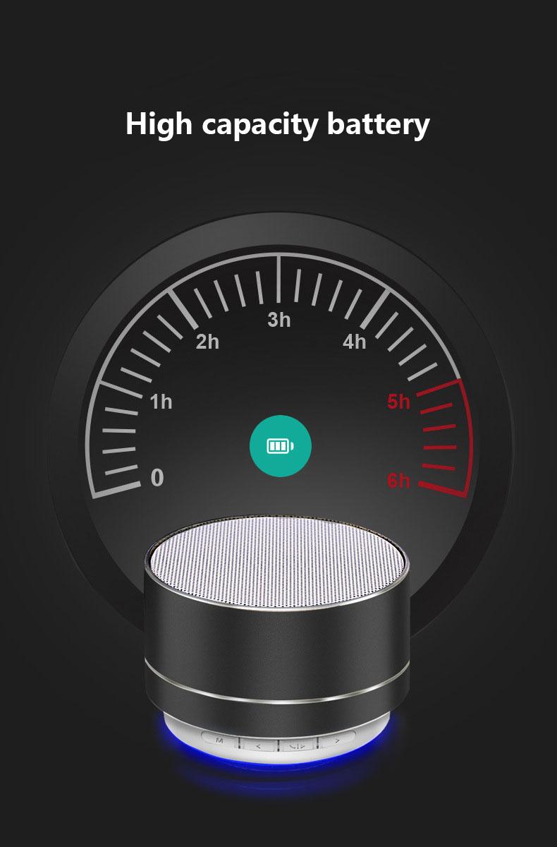 A10 metal portátil mini fm rádio tf cartão sem fio BT alto-falante com microfone