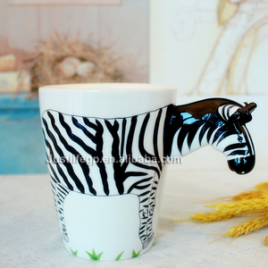 14OZ hand made unique animal ceramic mug factory direct sell