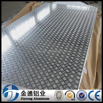 Aluminium Alloy Aa 3105-f Chequered Plate 5 Bar Pattern