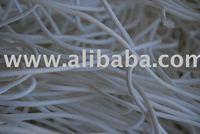 White PES fibre - production waste