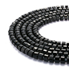 Nice Black Tourmaline Faceted Wheel Shape Gemstone Loose Beads
