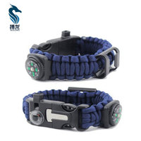 Compass thermometer bottle opener cross paracord bracelet