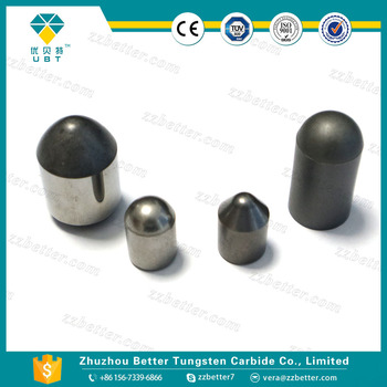 Tungsten carbide buttons for oil-field drill bits