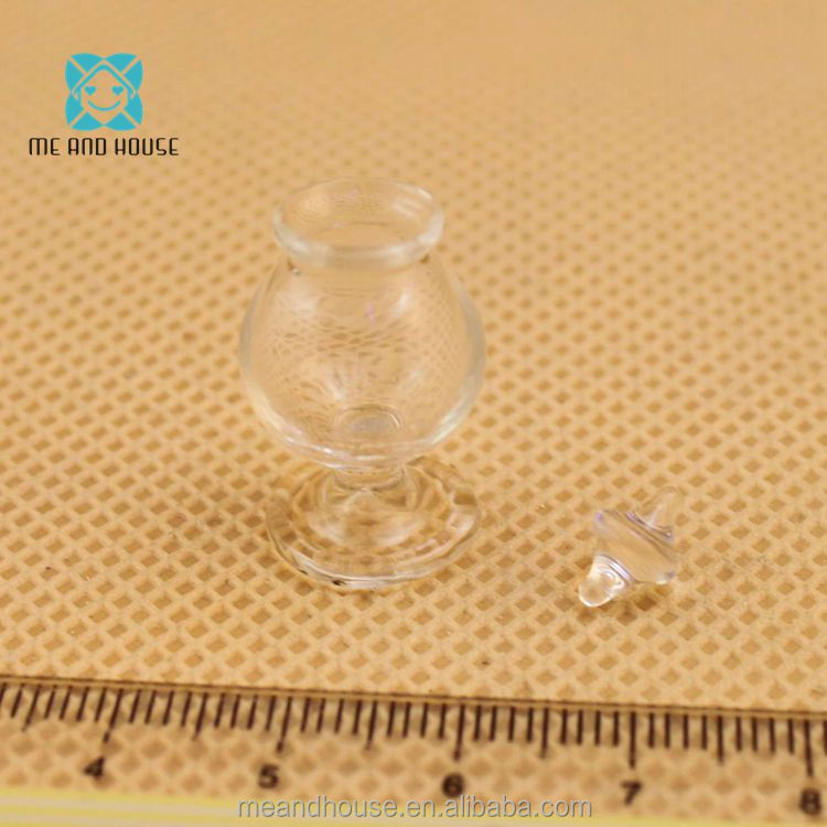 1:12 Doll House Miniature tableware Glass candy jar tiny bottle