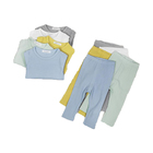 high quality organic cotton long sleeves boys infant newborn Kids Pajamas baby clothing set 2PCS baby sleep suit Tops and pants