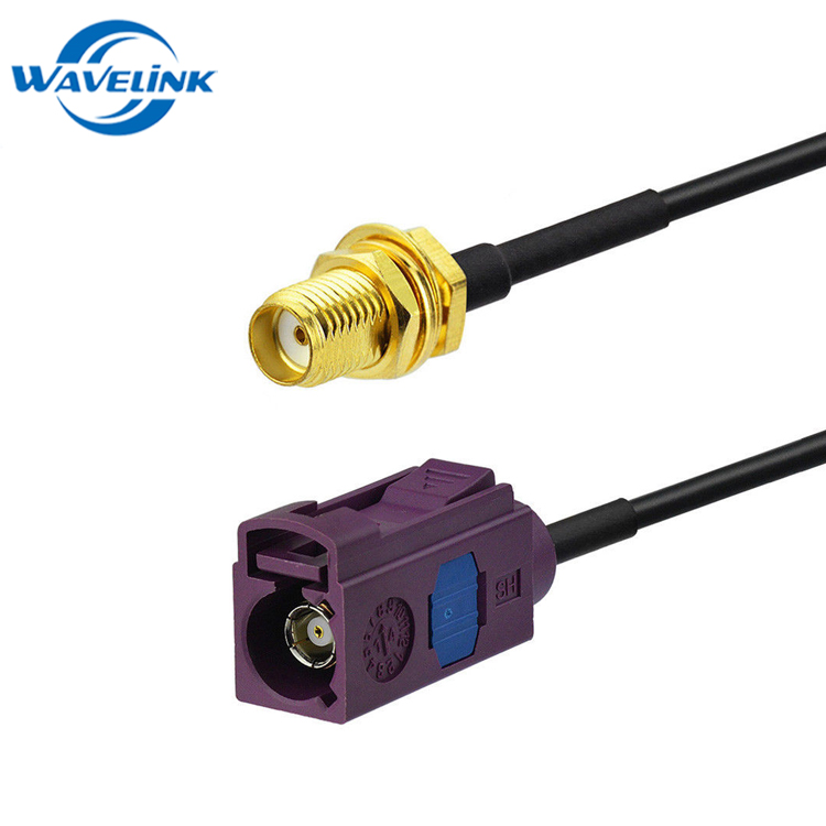 3FT RF Pigtail Fakra Female Jack To Fakra Z Male Plug Cable RG174