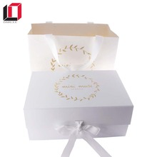Custom printing white paper wigs gift box packaging
