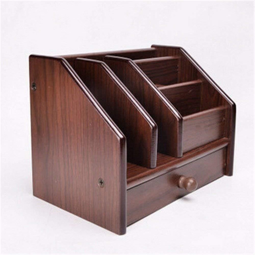 Desktop Storage Box Office Supplies Multi-Purpose Wooden Storage Box Drawer Ornaments Creative Desktop Finishing Box