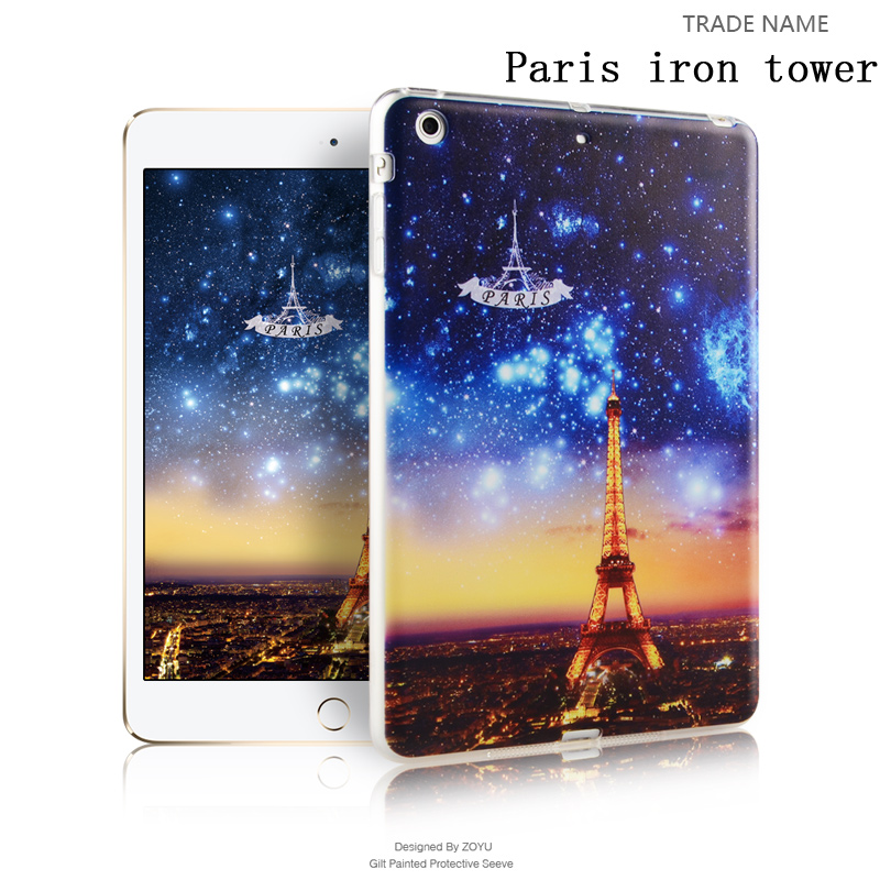 light weight zoyu color print silicon rubber tablet case/cover for grils For ipad mini 123
