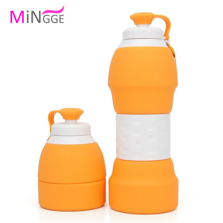 AING Collapsible Water Bottle Sports,Outdoor and Gym BPA Free Silicone Foldable Water Bottle for Travel